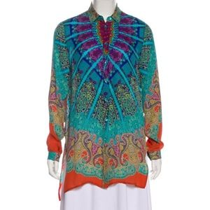 Sold - Incredible Printed Silk De Chine Etro